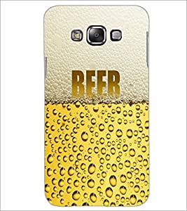PrintDhaba Beer D-6003 Back Case Cover for SAMSUNG GALAXY A7 (Multi-Coloured)