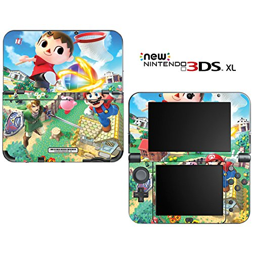 Super Smash Bros Mario Animal Crossing Zelda Kirby Decorative Video Game Decal Cover Skin Protector for New Nintendo 3DS XL (2015 Edition) (Kirby 3ds Xl Decal compare prices)