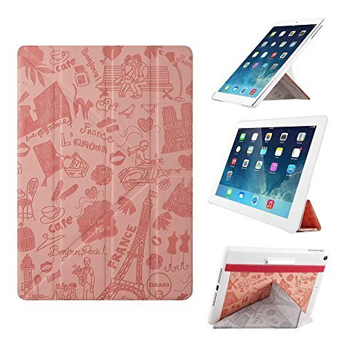 iPad Air Case - OZAKI O!coat Travel 360?Multi Angle Smart Case For Apple iPad Air. 2012 Red Dot Design / Adjustable 360?Multi-angle Viewing / Y-cover tri-axial Stand / Auto Sleep  Wake - Paris by Ozaki [並行輸入品]