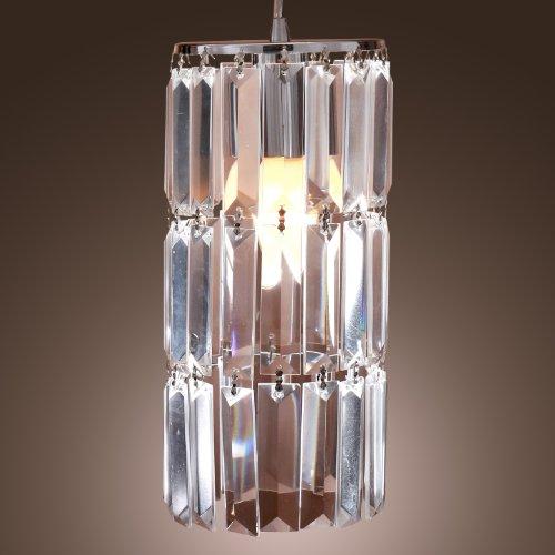 Lightinthebox Contemporary Chrome Finish Crystal Pendant Lights front-811433