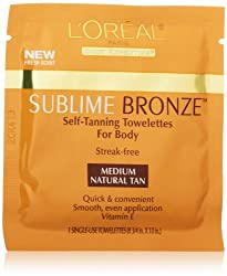 LOreal Paris Sublime Bronze Self-Tanning Towelettes for Body 6 CT