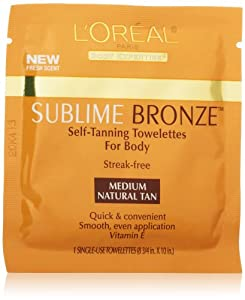L'Oreal Paris Sublime Bronze Self-Tanning Towelettes for Body, 6 CT