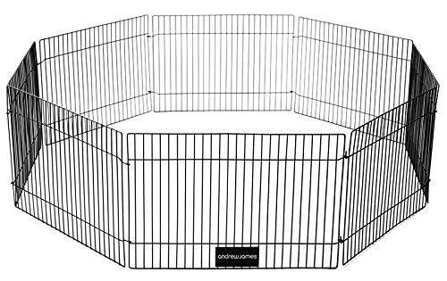 Andrew-James-Welpenauslauf-Freigehege-mit-8-Platten-23-cm-hoch-Drahtkfig-Laufgitter-fr-Kleintiere