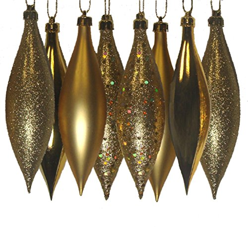 Vickerman 4-Finish Gold Drop, 5.5-Inch, Set 8