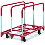 """Raymond 3825 Steel Panel Mover with 3 Standard Upright and 5"""" x 2"""" Phenolic Caster, 2400 lbs Capacity, 41"""" Length x 32"""" Width x 9"""" Height"""