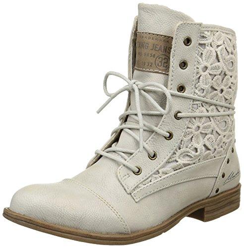 Mustang 1157527, Damen Stiefel & Stiefeletten  , Elfenbein - Off White (203 Ice) - Größe: 40.5