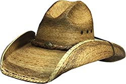 BULL-SKULL HATS, PALM LEAF COWBOY HAT, GUS 512