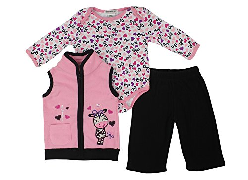 Alfa Global Baby-Girls Infant Three-Piece Micro-Fleece Set Pink 6-9 Months back-245534