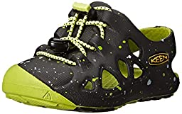 KEEN Rio Sandal, Black/Bright Chartreuse, 7 M US Toddler