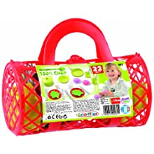 Ecoiffier Bubble Cook Bolster Bag With Tea Set, Colors May Vary
