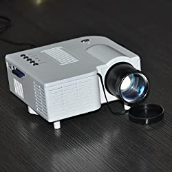 Mini Multi-function Projector with Native Resolution 320*240 Av/vga/usb/sd Input