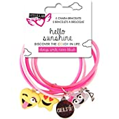 "Style.Lab By Fashion Angels ""Do It For The Insta"" Emoji Charm Bracelet, Pink"