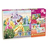 Disney Girls 4 Pack Wood Puzzles