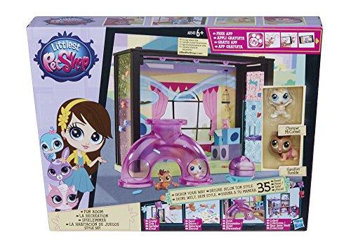 Hasbro A8543ES0 - Littlest Pet Shop kleine Tierchenwelt Spielzimmer Scene Style Set