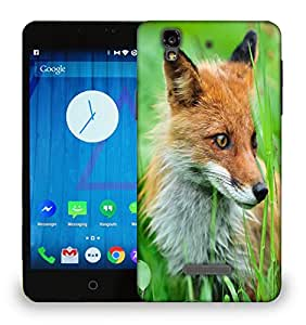 Snoogg Small Fox Printed Protective Phone Back Case Cover For Micromax Yu Yureka