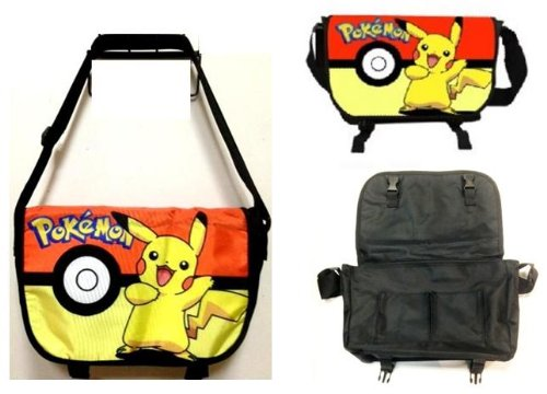 Pokemon Messenger Bag  Pikachu and Pokeball