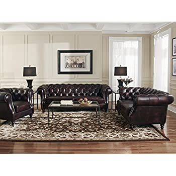 Lazzaro 1011 Chesterfield Leather Sofa - In Stock