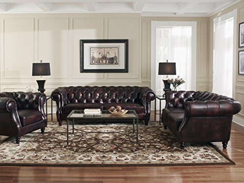 Lazzaro 1011 Chesterfield Leather Sofa - In Stock 2