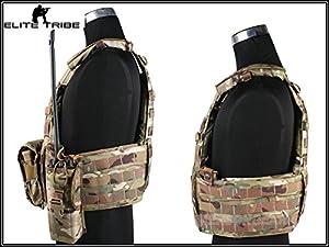 militaire Paintball Protections buste MOLLE veste combat tactique LBT6094A style Plate Carrier avec 3 poche Multicam MC