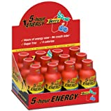 5 Hour Energy SN500181 Energy Drink, Berry, 1.93 oz Bottle, 12/Pack