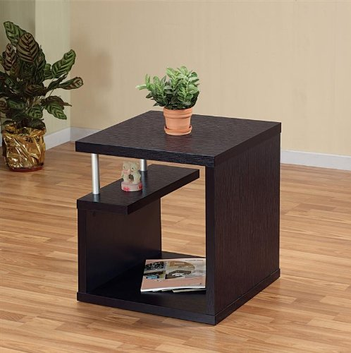 Cheap Enitial Lab 10350ET Nobu End Table in Red Cocoa Finish (10350ET)