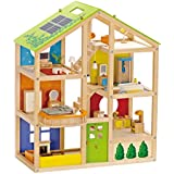 Hape - All Seasons Doll House - Furnished Wood Playset