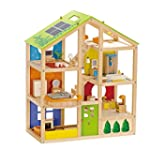 Hape - All Seasons Wooden Doll House,...