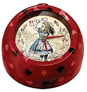 Alice in Wonderland Moving Alarm Clock