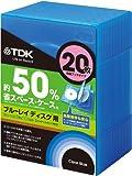TDK Blu-ray用 省スペース収納ケース 20枚収納ブックタイプ クリアブルー CASE-BDB20BL1A