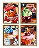 Schipper 609340629 - Malen nach Zahlen - Cupcakes (Quattro) je 18x24 cm hergestellt von Noris