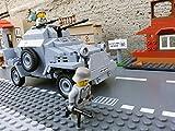 Modbrix 2366 - ✠ Wehrmacht Bausteine Panzerspähwagen Sd.Kfz. 222 inkl. custom Wehrmacht Soldaten aus original Lego© Teilen ✠ - 2