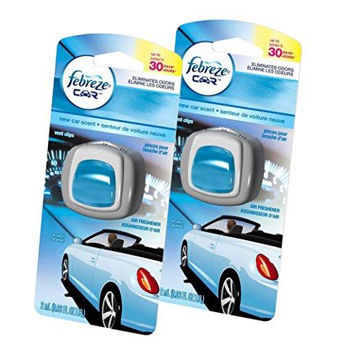 Febreze  Air Freshener, Car Vent Clip Air Freshener,  New Car Air Freshener, 2 Count (Clip Air Freshener compare prices)