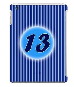 Fuson 3D Printed Numerology Designer back case cover for Apple iPad Mini - D4231