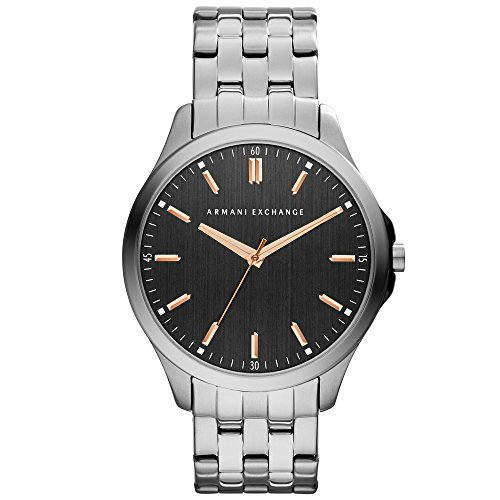 Armani Exchange AX2143 Men's Hampton Black Dial Gunmetal IP Steel Bracelet Watch