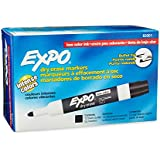 Expo 2 Low-Odor Dry Erase Markers, Bullet Tip, 12-Pack, Black