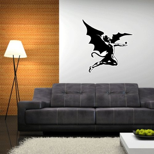 Black sabbath fallen angel wall decal wall decor 25 x 23 for Angel wall decoration