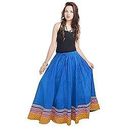 Prateek Retail Specially Designed Long Blue Skirt