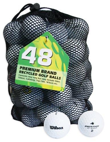 Second Chance Wilson Pro Staff Set 48 Palline da Golf, Categoria A, Bianco, 48