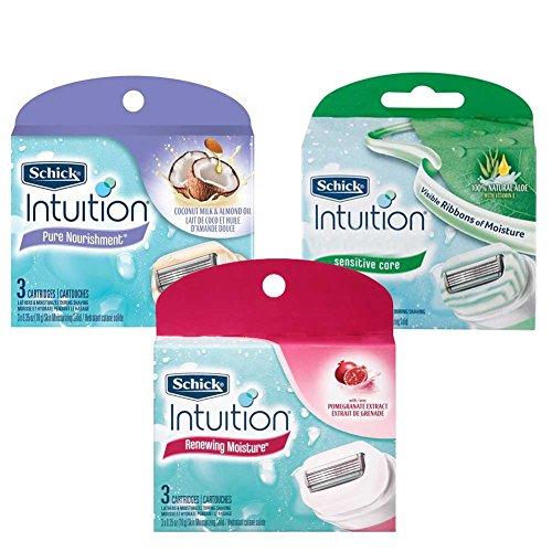 schick-intuition-renewing-moisture-pure-nourishment-sensitive-care-womens-refill-razor-blades-9-coun