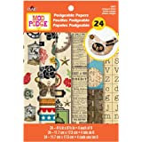 Plaid 24872 Mod Podge Scrapbooking Papers, Antique Urban
