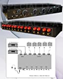 2x5 Speaker Selector Switch Switcher Volume Control, Accepts 12awg cable, Commercial Grade