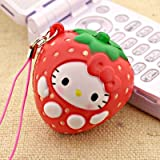Sanrio Hello Kitty As Fresh Fruit Ball Cell Phone Strap (Strawberry)