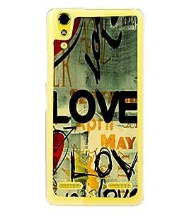 Love Wallpaper 2D Hard Polycarbonate Designer Back Case Cover for Lenovo A6000 :: Lenovo A6000 Plus :: Lenovo A6000+
