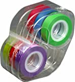 Lee Removable Highlighter Tape, 1 Roll of Each of 6 Standard Colors, 1/2-Inch Wide x 720-Inch Long, With Dispenser (13888)