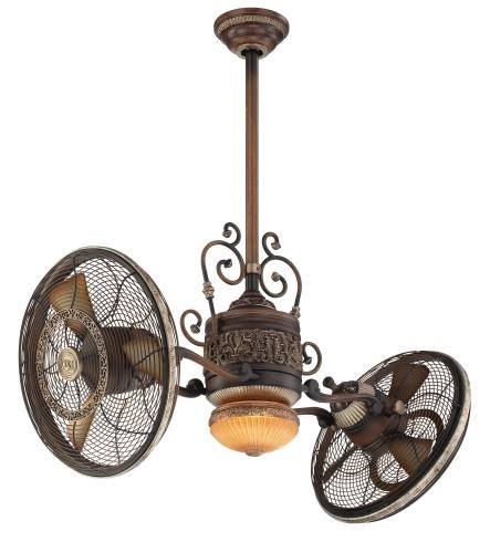 Minka aire f502 bcw one light belcaro walnut dual motor for Dual motor ceiling fan