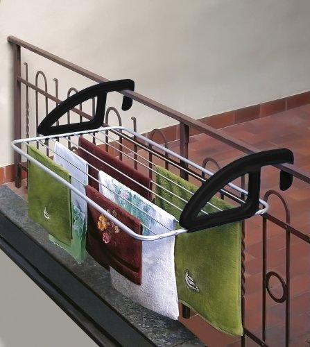 Metaltex 406810 tendedero de aluminio para balc n 10 - Tendederos de balcon ...