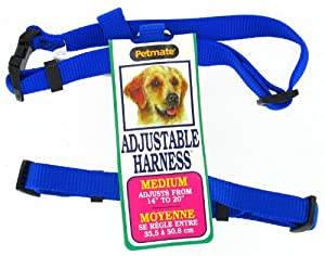Petmate 12 inch to 28 inch Royal Blue Adjustable Dog Harness  17208