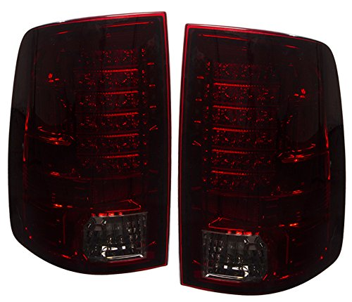 Rear LED Style Replacement Driving Brake Stop Tail Lights Lamps Assembly Unit Red Smoked Lens For Dodge Ram (Smoked Tail Lights Dodge Ram compare prices)