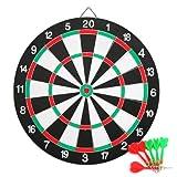 Yahee Profi Dartscheibe Dartboard inkl. 6 Dartpfeile