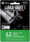 Xbox 12 Month Gold for Black Ops II [Online Game Code]